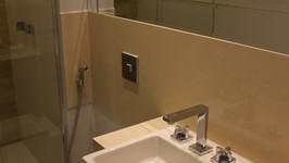 Banheiro social - cuba de semi-encaixe