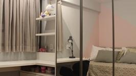 reaproveitamento dos armários no quarto da filha