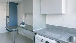tanque máquina de lavar bancada de refeições e torre
