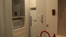 geladeira e torre microondas