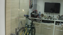 painel para pendurar as bicicletas