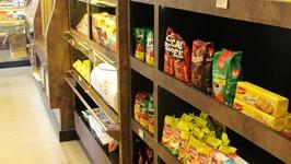 Estantes para produtos secos