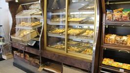 Vasca de pães e vitrine da pães doces