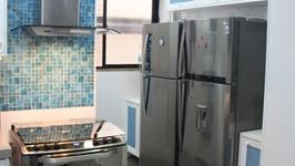 nicho de armários para as geladeiras