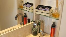 cuba esculpida e nicho em conjunto para lavabo