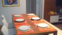 consoles virando mesa para 6 pessoas