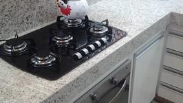 bancada livre com o uso do cooktop