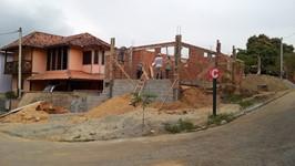 vista lateral da construção