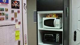 móvel com nicho para forno e microondas