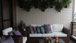 Bromélias em suportes para parede