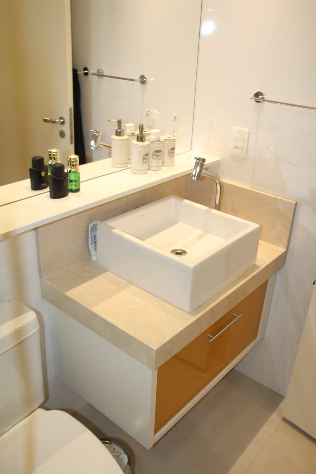 bancada da pia do banheiro social #7C4F1E 1067x1600 Bancada Banheiro Laca